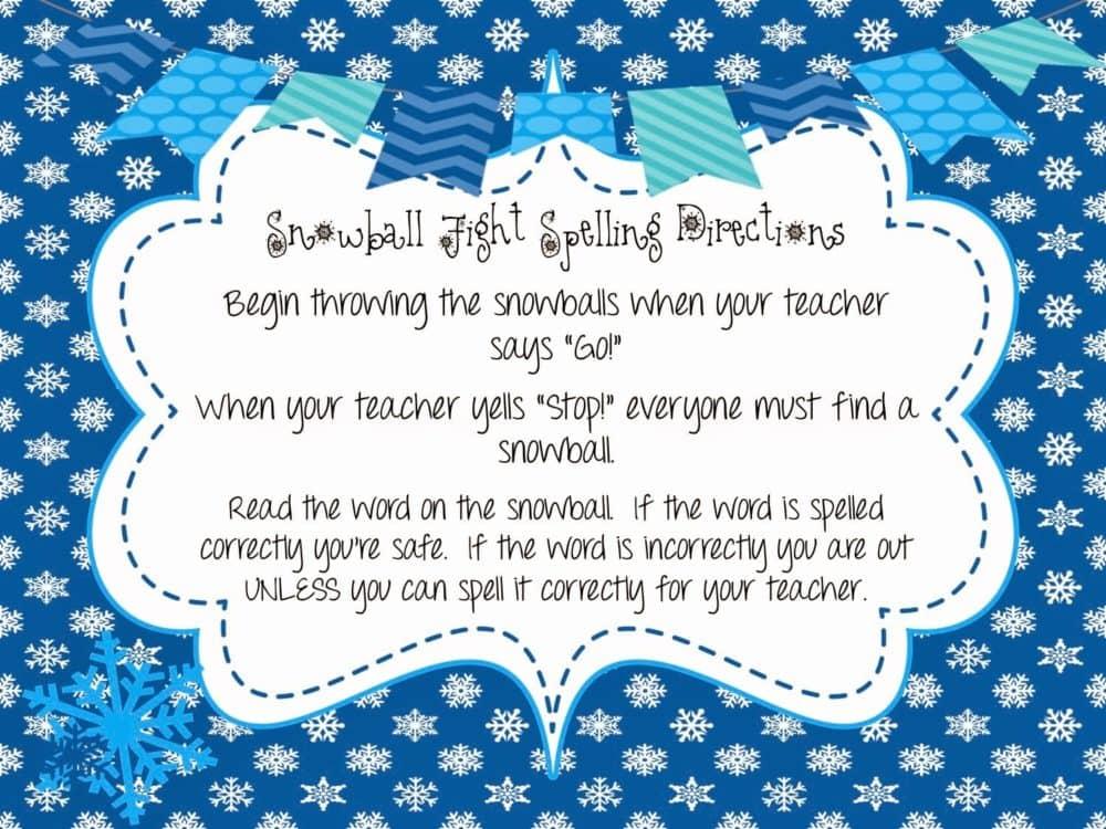 Snowball Spelling
