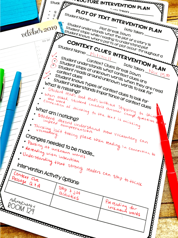 reading comprehension interventions