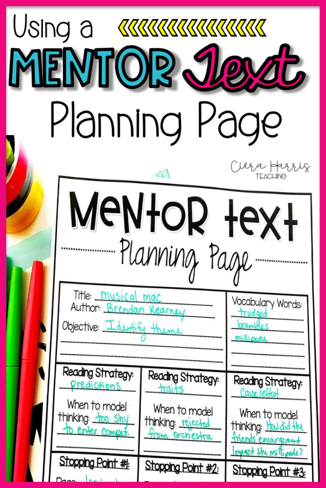 mentor text planning