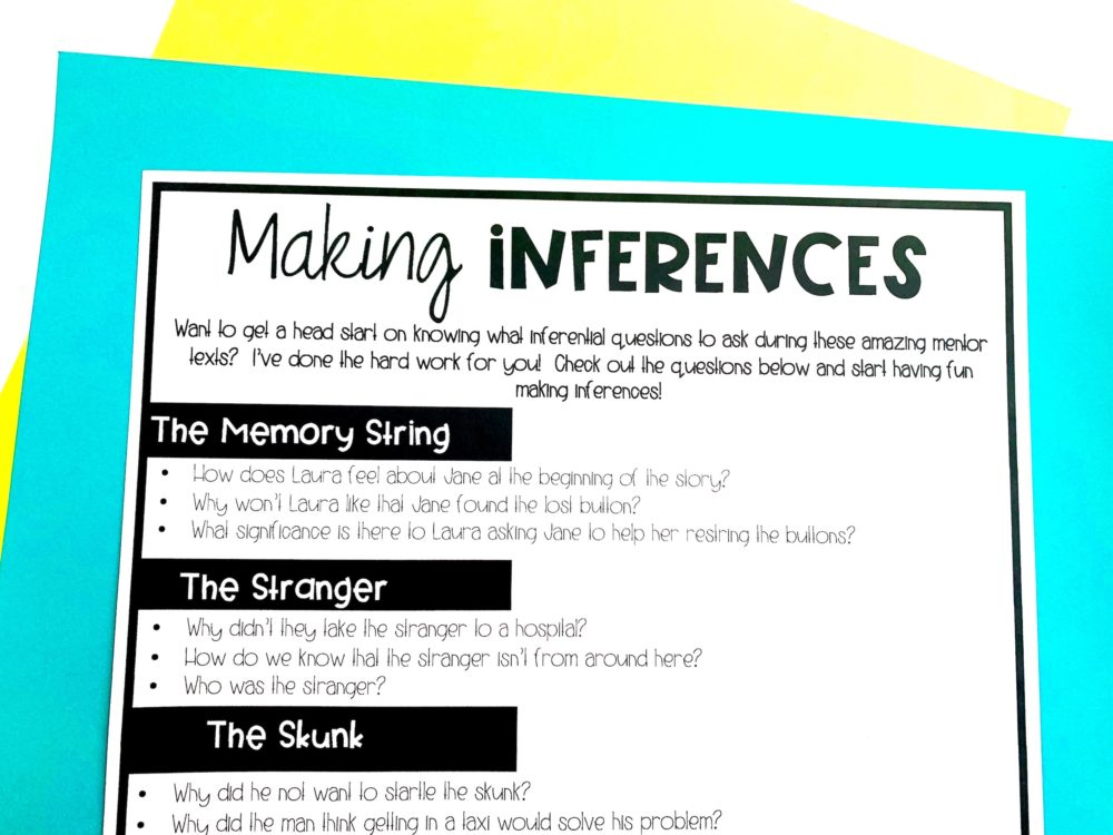 making inference