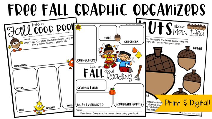 fall themed graphic organizers