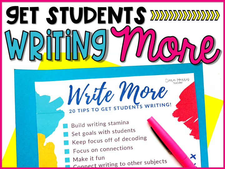 Ways to get students to write more