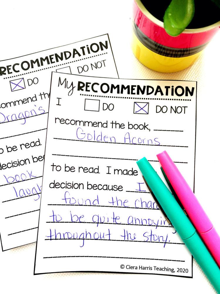 recommendation board