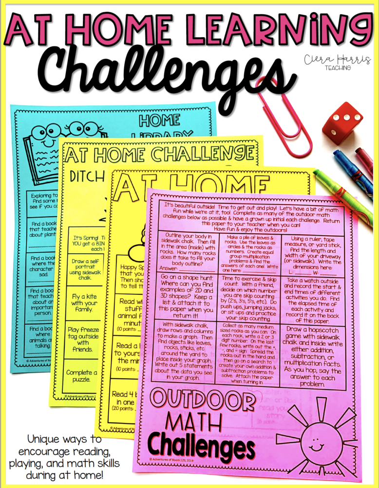 at home reading challenge