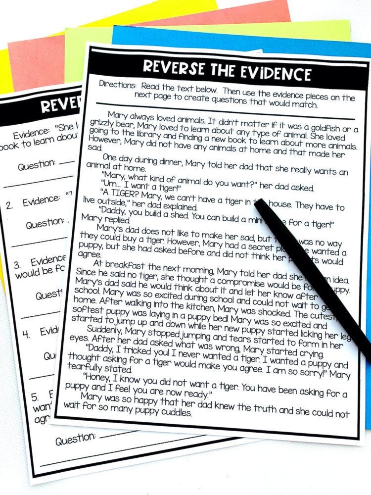 evidence activity
