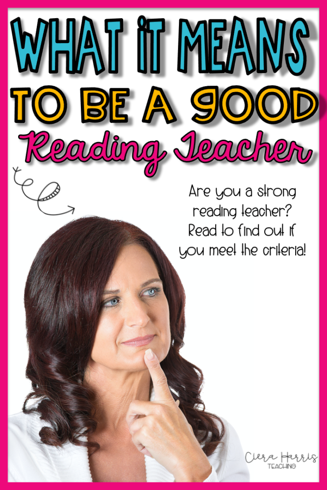 What it means to be a strong reading teacher pin