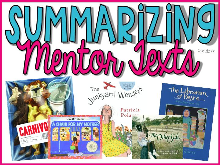 Summarizing Mentor Texts Blog Header