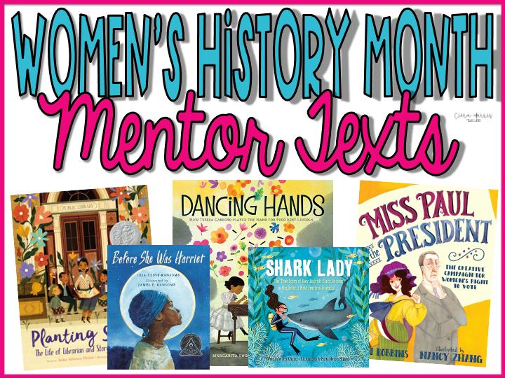 Women's History Month Mentor Texts Blog Header