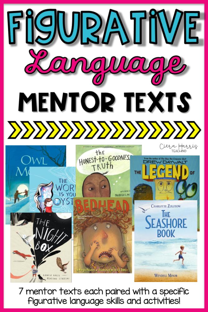 figurative language mentor texts pin