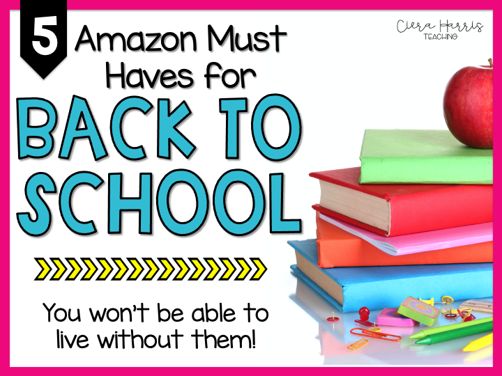 5 Amazon Must Haves for Back to School Blog Header
