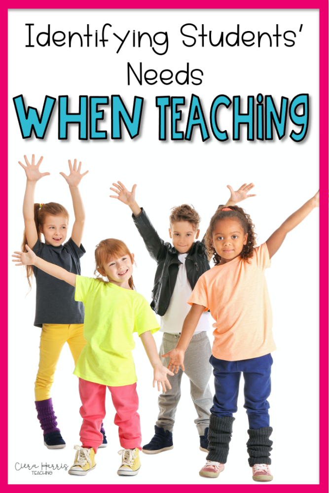Identifying Students Needs When Teaching Pin